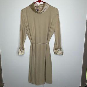 NWT Austin Reed Tan Sheath Dress. Sz 12